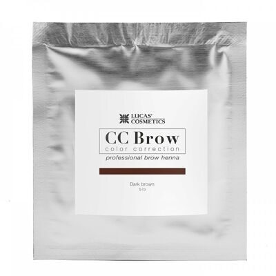 Хна для бровей CC Brow (dark brown) в саше (темно-коричневый), 5 гр