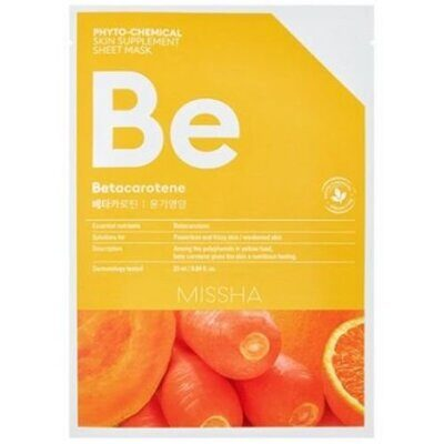 Маска для лица MISSHA Phytochemical Skin Supplement Sheet Mask (Betacarotene/Nourishing)