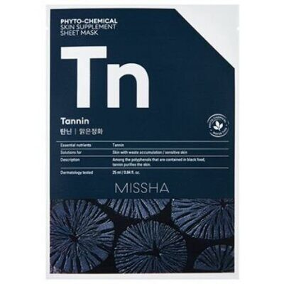 Маска для лица MISSHA Phytochemical Skin Supplement Sheet Mask (Tannin/Purifying)