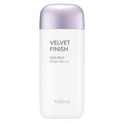 Солнцезащитное молочко ('18)MISSHA All Around Safe Block Velvet Finish Sun Milk SPF50+/PA++++_70ml